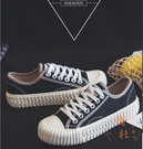帆布鞋女鞋春季新款餅乾鞋學生小白鞋板鞋 休閒鞋【橘社小鎮】