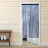金格拉斯雙層細線簾 寬90x高180cm 深淺藍