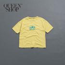 Queen Shop【01038234】親子系列 汽車山脈圖T 兩色售 1/2/3/4*現+預*