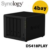 Synology 群暉科技 DiskStation DS418play 4Bay NAS 網路儲存伺服器