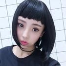 整頂假髮(短髮)-不規則瀏海個性直髮女假髮2色73vs98[巴黎精品】