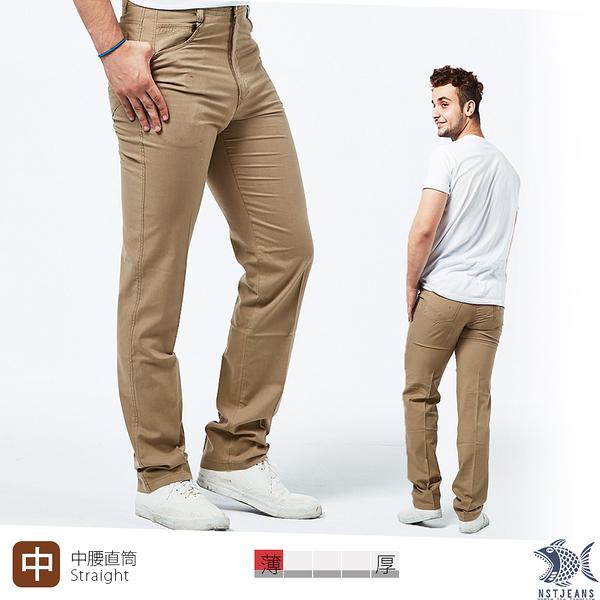 【NST Jeans】夏季薄款 Summer Tan 巴西沙 純棉卡其長褲(中腰) 390(5682) 台灣製
