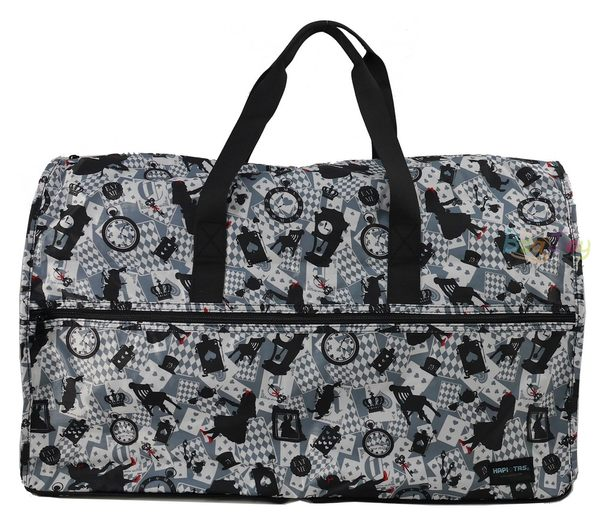 HAPI+TAS 摺疊大旅行袋 - 新版灰色愛麗絲