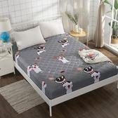 床笠 床笠單件加厚夾棉床罩1.8m1.5米席夢思保護套防滑床墊套   蜜拉貝爾