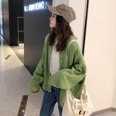 秋季女裝韓版慵懶風純色BF風寬鬆針織衫軟妹可愛網紅毛衣開衫外套