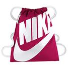 Nike- 大Logo健身背袋(梅紅色)