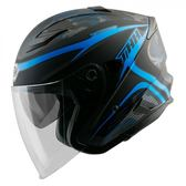 【東門城】THH T560S 迷彩線條 平光黑/藍 快拆式鏡片 雙D扣 內襯全可拆洗 四分之三罩安全帽
