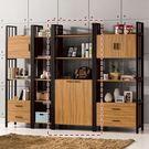 【森可家居】鋼克里3x7尺下門書櫃(編號3) 8ZX837-3 書架 展示櫃 開放式 置物收納