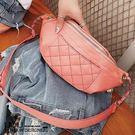 *UOU精品*韓國時尚款 小香包菱格紋綉線鏈條斜背包腰包/4色/T239