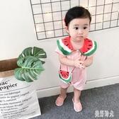 嬰兒連體衣夏季新生兒衣服男女寶寶網紅爬爬服夏裝薄zt332 『美好時光』