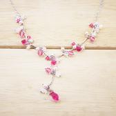 ~粉紅堂飾品~粉紅色  項鍊