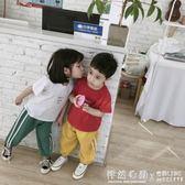兒童夏季韓版短袖T恤 男童女童純棉夏裝中小童寶寶半袖上衣潮 ◣怦然心動◥