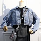 秋裝小清新牛仔外套女寬鬆2018新款秋韓版百搭長袖短款上衣夾克潮