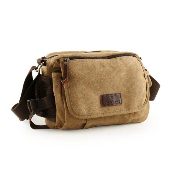 帆布包 韓版男士休閒單肩包 斜跨包 郵差包掛包戶外運動挎包ipad包