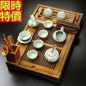 茶具組含茶壺+茶杯+茶海+茶盤-品茗泡茶西施汝窯功夫茶具套組68ad10[時尚巴黎]