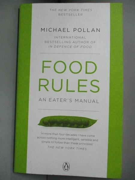 【書寶二手書T1/養生_HGU】Food Rules An Eaters Manual 飲食規則_邁克爾波蘭