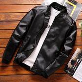 男士外套 新品春秋季薄款韓版修身潮流PU皮衣休閒青年男裝夾克