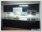 ❤PK廚浴生活館 實體店面❤高雄 廚房歐化系統櫥具 黑色簡約款一字型流理台 白鐵台面 美耐板