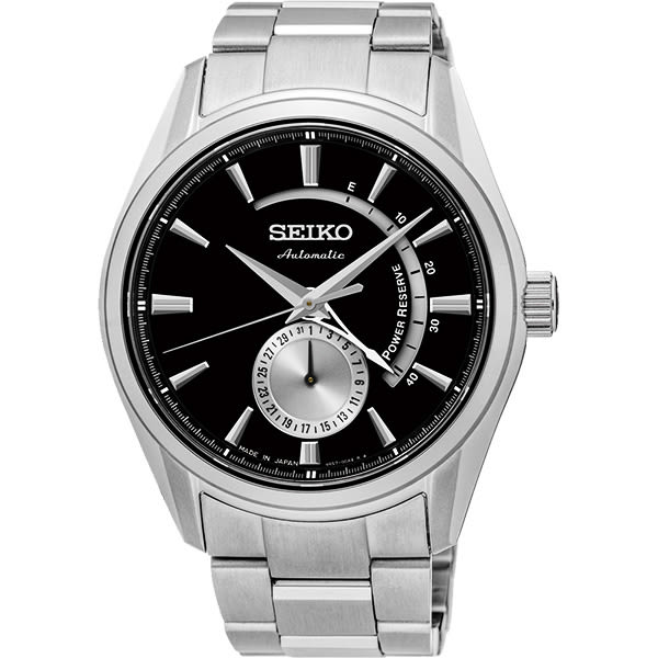 SEIKO 精工 Presage 4R57 動力儲存機械錶-黑/42mm 4R57-00A0D(SSA305J1)