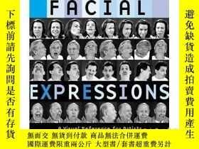 二手書博民逛書店英文原版罕見Facial Expressions 面部表情:藝術