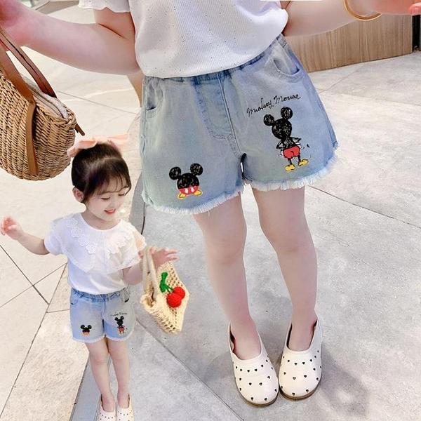 女童牛仔短裤夏装薄款2021新款女宝宝洋气裤子儿童夏季外穿百搭
