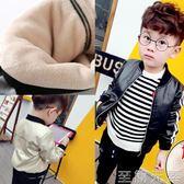 男童皮衣外套2018新款韓版秋冬寶寶夾克加絨加厚嬰幼兒1-2-3歲 至簡元素