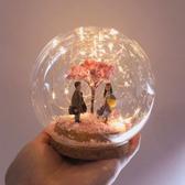 水晶球 水晶球diy材料包小夜燈聖誕節禮物鹿龍貓小梅走心手工送男女朋友【全館免運】