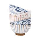 冠福陶瓷碗日式和風碗飯碗湯碗餐具碟家用送禮佳品禮盒5個套裝