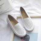 護士鞋女2020新款軟底坡跟透氣防臭白色鏤空舒適平底休閒夏牛筋底 印象家品