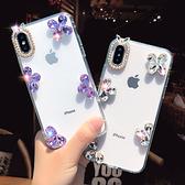 蘋果 IPhone12 Pro Max iPhone11 12mini XS X XR SE2 i8 i7 Plus i6S 手機殼 水鑽殼 客製 手做 邊框水晶花