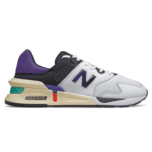 New Balance 997 男鞋 休閒 復古 ABZORB ENCAP REVEAL 白 紫【運動世界】MS997JEA