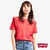 Levis T恤 女裝 / 圓領 / 荷葉邊 / 紅色