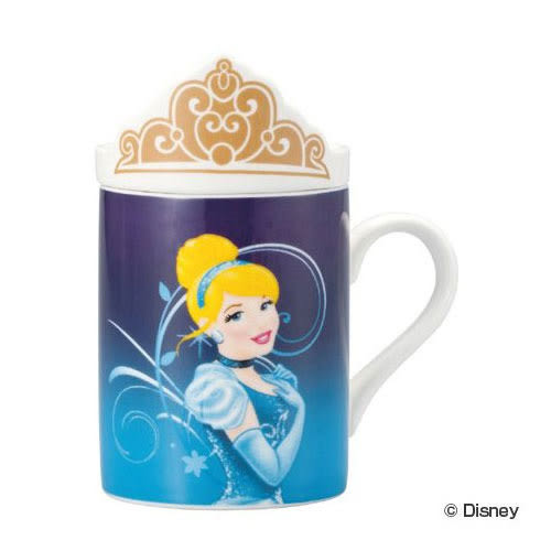 《sun-art》迪士尼公主陶磁馬克杯附造型蓋(灰姑娘)★funbox生活用品★_NR23253