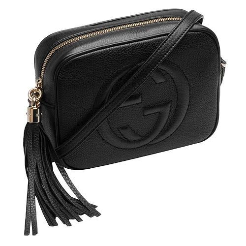 【雪曼國際精品】GUCCI 308364 A7M0G 1000 soho disco bag肩背包(黑色)─全新預購