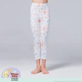【WIWI】友情維尼溫灸刷毛九分發熱褲(純淨白 童100-150)