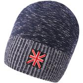 羊毛毛帽-簡約提花捲邊保暖男針織帽2色73wj31[時尚巴黎]