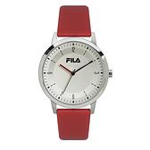 【FILA 斐樂】經典簡約LOGO設計錶-亮眼紅/38-153-104/台灣總代理公司貨享兩年保固