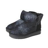 靴子 雪靴 短靴 黑色 女鞋 B7216 no355