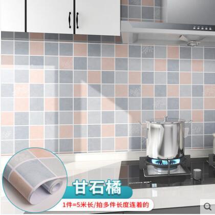 廚房防油貼紙防水自粘墻貼加厚PVC防火耐高溫墻壁防油污油煙貼紙 科炫數位