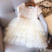 歐美童裝夏裝女童舞蹈禮服裙兒童連身裙網紗公主裙蓬蓬裙 町目家