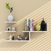 墻壁架子隔板墻上置物架現代簡約客廳創意書架電視背景壁掛裝飾WY【快速出貨】