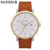NIXON 手錶 原廠總代理A945-2548 The ROLLO 咖啡色 潮流時尚皮錶帶 男女 運動 生日情人節禮物