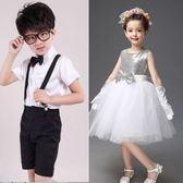 六一兒童表演服幼兒舞蹈女童公主紗裙蓬蓬裙主持人合唱團演出服裝 薔薇時尚