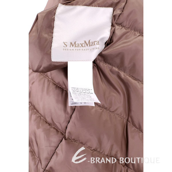 MAX MARA-'S Max Mara 咖褐色雙面兩穿連帽羽絨大衣 1540500-21