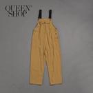 Queen Shop【04050587】女裝 配色吊帶寬版連身褲*現+預*