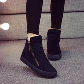 YAHOO618◮2019冬季新款加絨保暖雪地靴女學生短筒棉靴韓版馬丁短靴百搭棉鞋 韓趣優品☌
