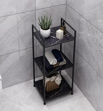 收納櫃 衛生間夾縫置物架浴室臥室簡易客廳書架墻角收納儲物層架落地邊柜【快速出貨八折優惠】