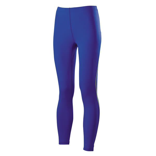 Mizuno  女路跑緊身褲-藍紫 J2TB573125