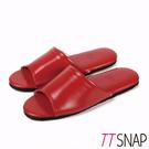 室內拖鞋-TTSNAP MIT輕量居家防滑拖鞋 紅