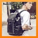 大容量潮男生肩背包後背包雙肩包休閒電腦背包筆電背包書包旅行袋-黑【AAA2956】預購